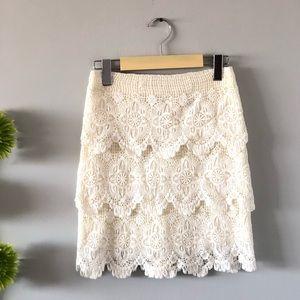 Dynamite | BN Lace cream skirt